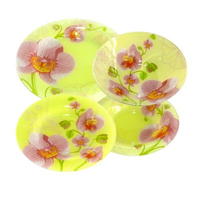 830-002 VETTA Орхидея Набор столовой посуды 19 пр. стекло, S3000/19-GC001
