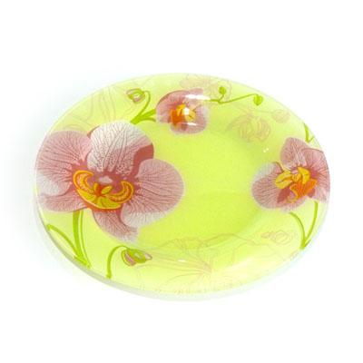 830-007 VETTA Орхидея Тарелка подстановочная стекло 254мм, S3010-GC001