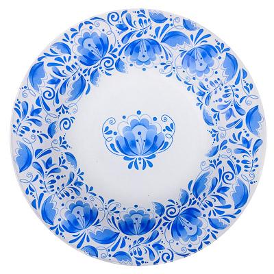 830-016 VETTA Гжельские мотивы Тарелка суповая стекло 200мм, S3030-GC002, дизайн GC