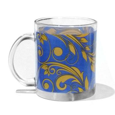 830-025 VETTA Золотая вязь Кружка стекло 270мл, S2348-GC004