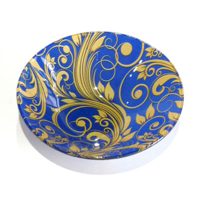 830-027 VETTA Золотая вязь Салатник стекло 152мм, S302006-GC004