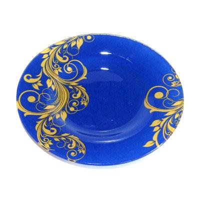 830-030 VETTA Золотая вязь Тарелка десертная стекло 200мм, S3008-GC004