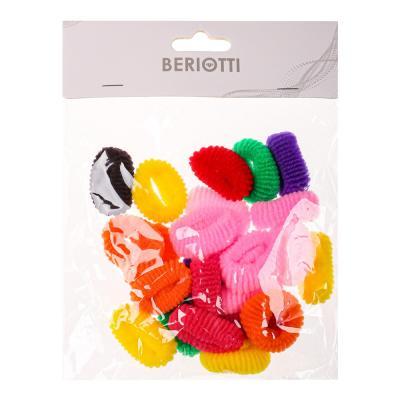 """322-666 Набор резинок для волос 24шт., 3 см, полиэстер, """"Классика"""""""