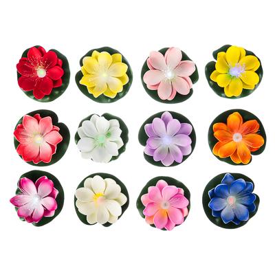 171-009 Лилия декоративная с подсветкой для пруда,батарея LR41х3, полиэстер, 10см, 12 цветов