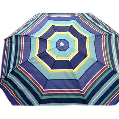 """333-364 Зонт пляжный """"Полосы"""" 210D Oxford с ножкой, 190см"""