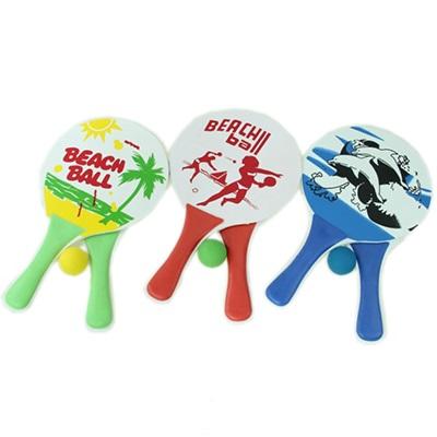 """341-080 Набор """"Beachball"""" ракеток с мячом 33х19см, МДФ, микс"""