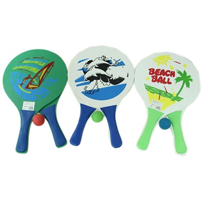 """341-084 Набор """"Beachball"""" ракеток с мячом 39х23,5см, МДФ, микс"""