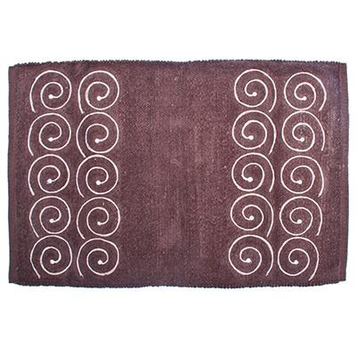 462-411 VETTA Коврик интерьерный, хлопок 100%, с вышивкой, 60х90см, шоколадный