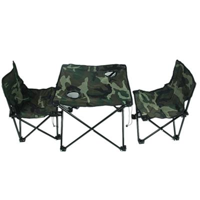 "333-392 Комплект мебели для кемпинга ""Камуфляж"" (стол 45х45х40см, стул 32х32х48см, 2шт, макс.нагрузка 110кг)"