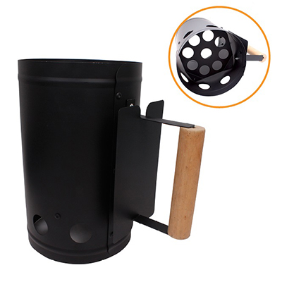 101-004 GRILLBOOM Стартер для угля, D17x27см, толщина стенки 0,6мм, сталь
