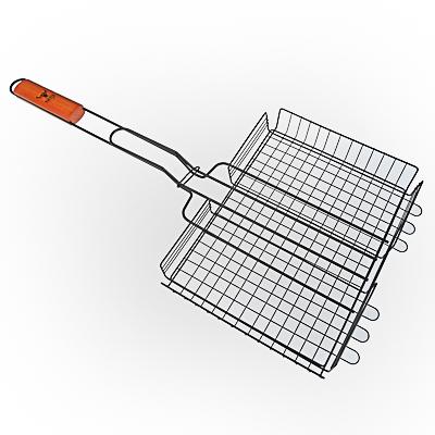 104-002 Решетка-гриль антипригарным покрытием 62х(30х24х4) см, GRILLBOOM