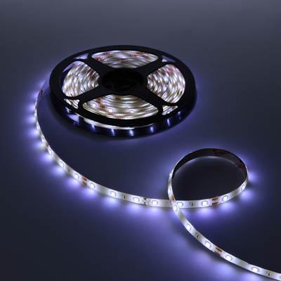 932-003 Лента светодиодная 2835белая, 5м, монтажный клейкий слой, 12В/2А ч/з блок питания, без комплектующих
