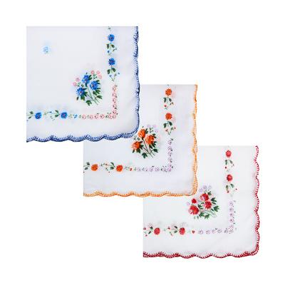 307-154 Носовой платок, хлопок, 30x30см, 3 цвета