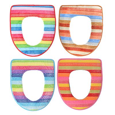 463-427 Чехол для сиденья унитаза, искусственный мех, ПВХ, 44х37см, 4 цвета
