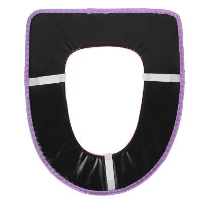 463-435 Комплект чехлов для сиденья и на крышку унитаза, на липучке, искусственный мех, ПВХ, 44х38см, 4 цвет