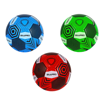 133-010 Мяч футбольный 3 сл, р.5, 22см, PU, 4 цвета, арт.568