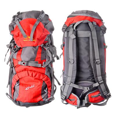 118-003 ЧИНГИСХАН Рюкзак туристический 45+5л, оксфорд 400D, красный