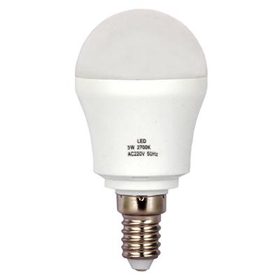 "925-009 Лампа LED 2700К ""тёплый"" солнечный свет, E14, пластиковый корпус, 3W, 220V"