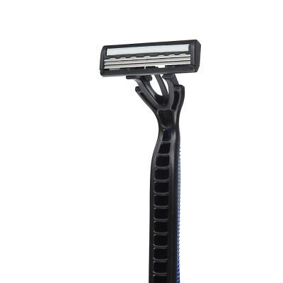 346-001 Станки для бритья с тройным лезвием 5шт для мужчин, плавающая головка, силикон, пластик