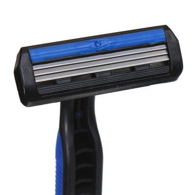 346-002 Станки для бритья с тройным лезвием 4шт для мужчин, силикон, пластик