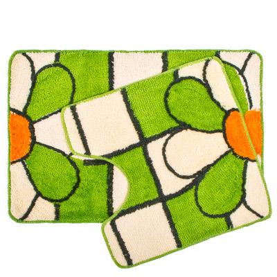 """462-419 VETTA Набор ковриков 2шт для ванной и туалета, акрил, 60x90см + 60x60см, """"Flower"""" Дизайн GC"""