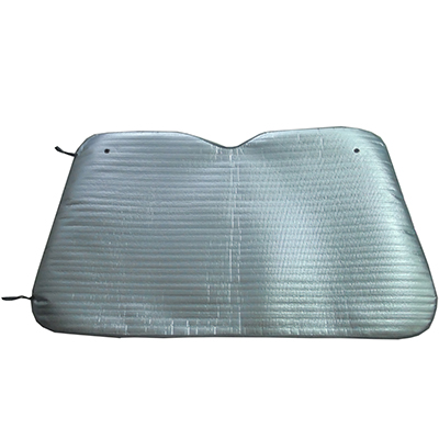 718-008 NEW GALAXY Шторка солнцезащитная на лобовое стекло, 130х75см, серебро матов.