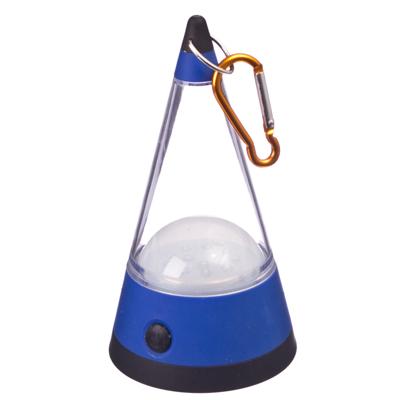 """198-003 Фонарик-лампа """"Конус"""" 3 режима 12 LED 3хАА с подвесами, пластик, 3 цвета"""