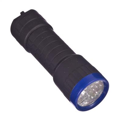 198-004 Фонарик пластик со светодиодами 14 LED 3хAAА, пластик