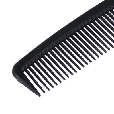 319-046 Расческа-гребень карбоновая, эффект антистатик, 17,5x2,5 см, черный