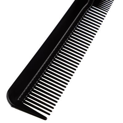319-049 Расческа-гребень карбоновая, эффект антистатик, 18x2,5 см, черная