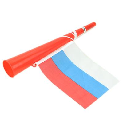 """199-007 Гудок болельщика с флагом """"Россия"""", пластик, 3 цвета, CD-37"""
