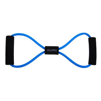 197-003 Эспандер для укрепления мышц груди и плечевого пояса, одинарный, 36 см, латекс, ПЭТ, восьмерка, SILA