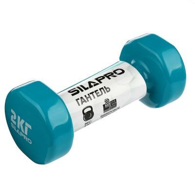 197-007 Гантель с виниловым покрытием, 2 кг, 3 цвета, SILAPRO