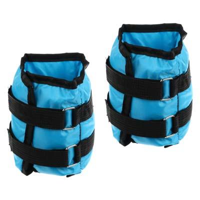 191-003 Набор утяжелителей для рук и ног текстильный, вес 2,0 кг(+-90 гр), 2 штх1 кг, 33х14 см, 2 цвета, SIL