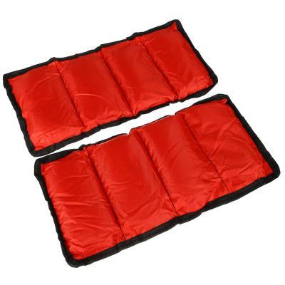 191-004 Набор утяжелителей для рук и ног текстильный, вес 3 кг(+-100 гр), 2 штх1,5 кг, 37х15 см, 2 цвета, SI