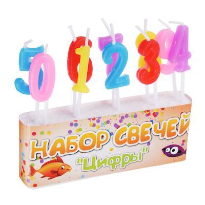 """533-008 Капитан Весельчак Набор свечей 10шт, 13x8см, """"Цифры"""", NC-06"""