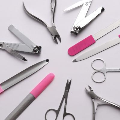 305-182 Книпсер для ногтей с пилкой, хром, металл, 8см