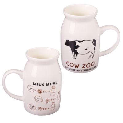 Z02-192 Кружка для молока, 500мл, керамика, 8 дизайнов