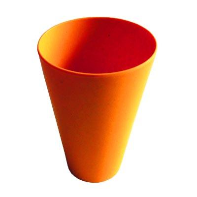 883-024 СЛАВЯНА Кружка бамбуковое волокно, 400мл, оранжевая, BF20014