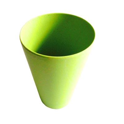 883-026 СЛАВЯНА Кружка бамбуковое волокно, 400мл, зеленая, BF20014