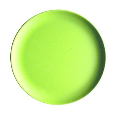883-030 СЛАВЯНА Тарелка десертная бамбуковое волокно, 18см, зеленая, BF21233