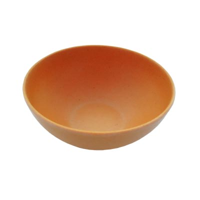 883-041 СЛАВЯНА Салатник бамбуковое волокно, 15см, оранжевый, BF20798