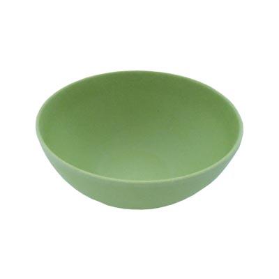 883-043 СЛАВЯНА Салатник бамбуковое волокно, 15см, зеленый, BF20798