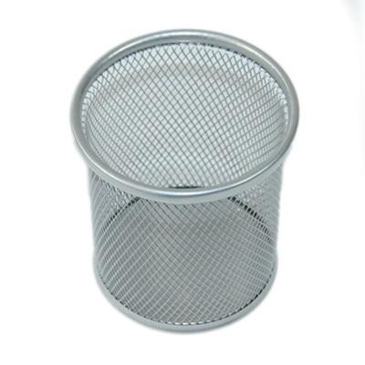 526-261 Подставка для ручек и карандашей металл 9,5см, цилиндр