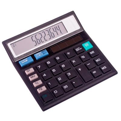 526-278 Калькулятор настольный 12 разрядов, питание от солн.батареи или LR44, 12,5х12,5см
