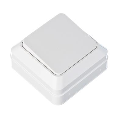 905-004 FORZA Simple Выключатель одноклавишный белый, накладной 10А, 250В, пластик ABS