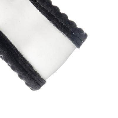 708-033 NEW GALAXY Оплетка руля, спонж, стеганная, мелкий рельеф, черный, разм. (М)