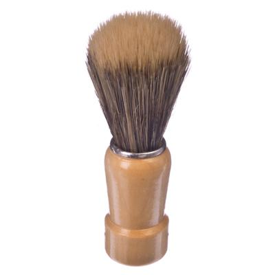 346-216 Помазок для бритья, деревянная основа, серебряный ободок, смешанный ворс, 9,5x3см