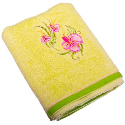 484-440 VETTA Полотенце банное, 100% хлопок, 50x90см, Орхидея, зелёное