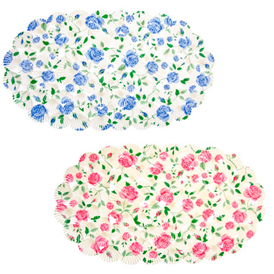 "462-429 VETTA Коврик в ванну противоскользящий, ПВХ, 68x38см, ""Роза"", 2 цвета"